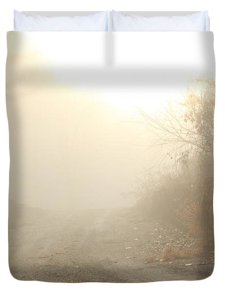 Where Does The Road Lead Duvet Cover by Karol Livote