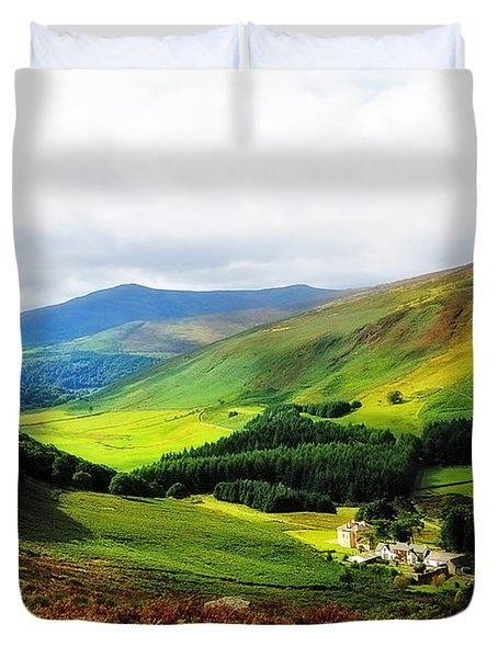 Where Is Soul Flying. Wicklow Mountains. Ireland Duvet Cover by Jenny Rainbow