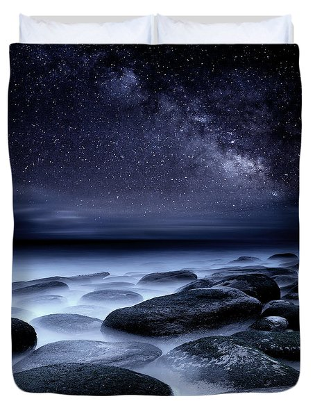 Where No One Has Gone Before Duvet Cover by Jorge Maia