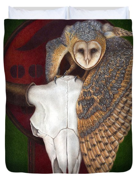 Where Once They Roamed Duvet Cover by Pat Erickson