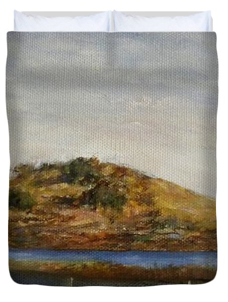 Where The Bay Meets The Hill Duvet Cover