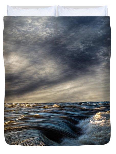 Where The River Kisses The Sea Duvet Cover by Bob Orsillo