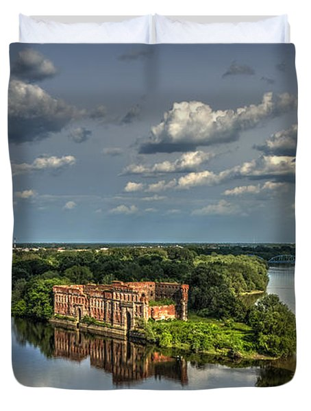 Where Two Rivers Meet Duvet Cover by Julis Simo