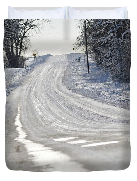 Duvet Cover featuring the photograph Where Will The Road Take You? by Dacia Doroff