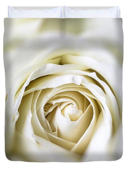 Whie Rose Softly Duvet Cover