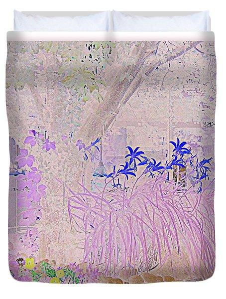 Whimsical Garden Duvet Cover by Bobbee Rickard