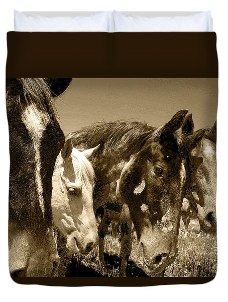 Whimsical Stallions Duvet Cover