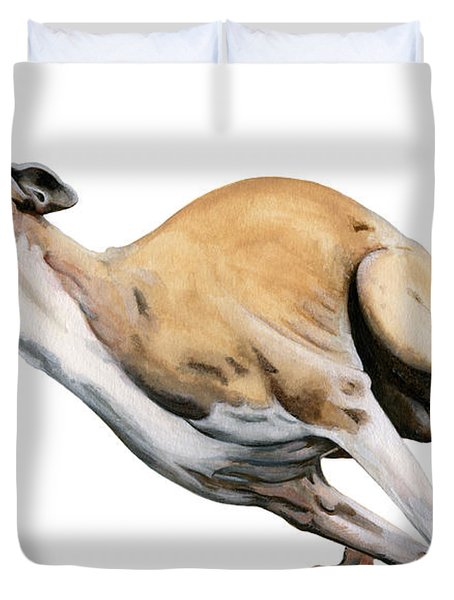 Whippet In The Wind Duvet Cover by Liane Weyers