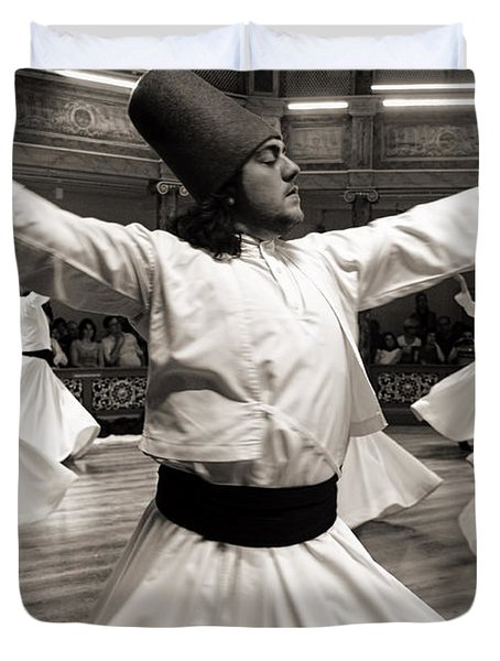 Whirling Dervishes Duvet Cover by For Ninety One Days