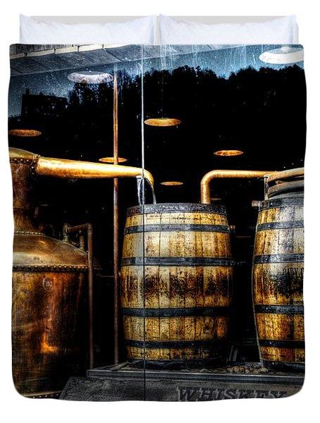 Whiskey Still On Main Street Duvet Cover by Paul Mashburn