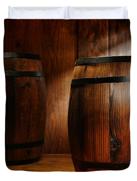 Whisky Barrel Duvet Cover