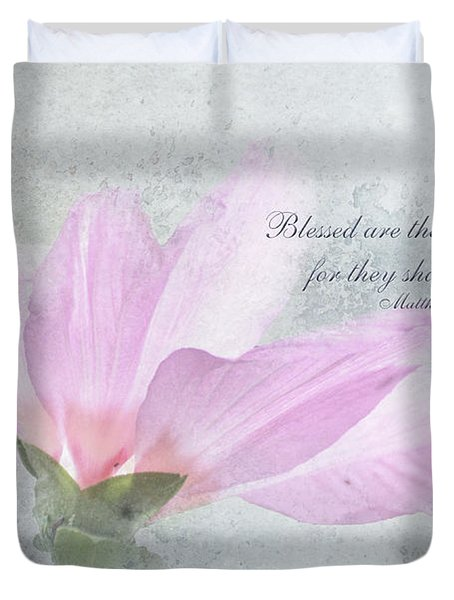 Whisper To Me With Verse Duvet Cover by Debbie Portwood