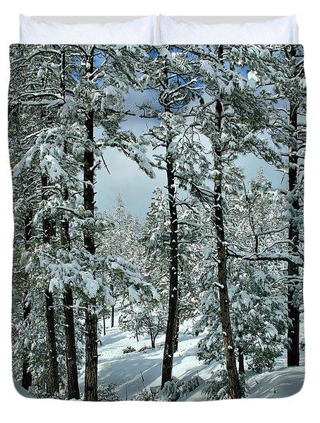 Whispering Snow Duvet Cover