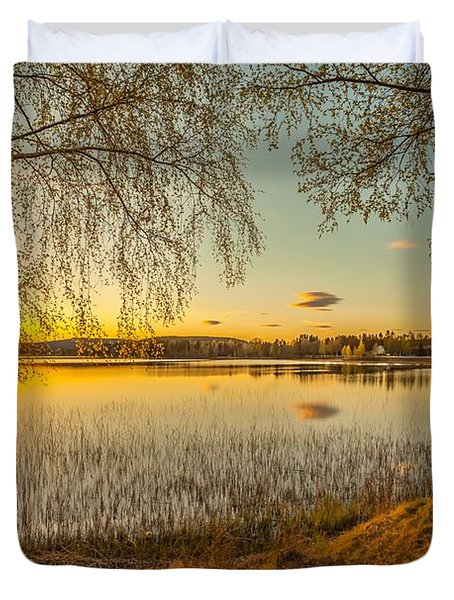 Duvet Cover featuring the photograph Whispering Wind by Rose-Maries Pictures