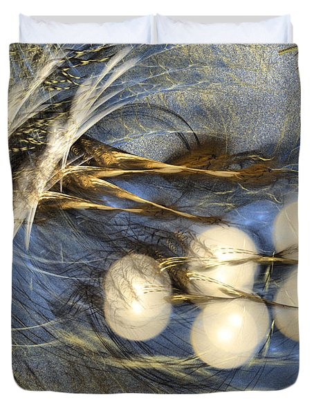 Whispering Wind - Abstract Art Duvet Cover