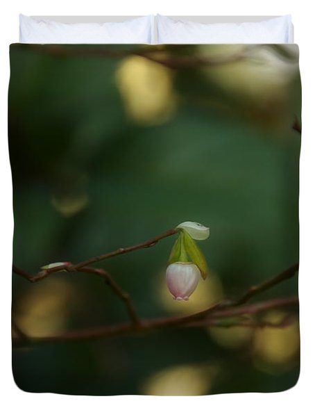 Duvet Cover featuring the photograph Whispers Of Spring In The Tranquil Forest by Lisa Knechtel