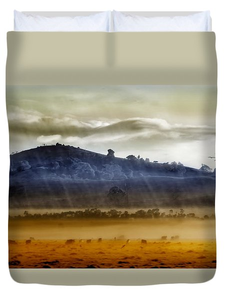 Whisps Of Velvet Rains... Duvet Cover