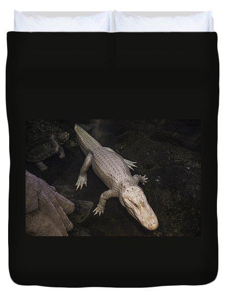 White Alligator Duvet Cover