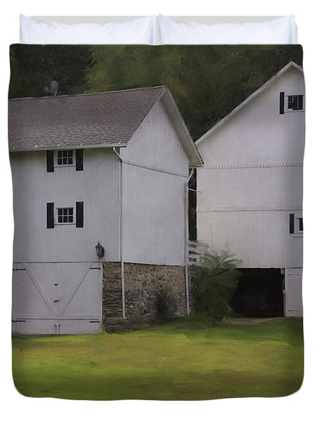 White Barns Duvet Cover by Fran Gallogly