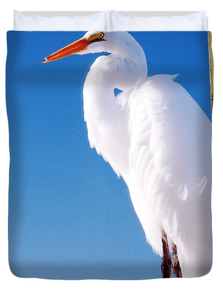Great White Heron Duvet Cover by Vizual Studio
