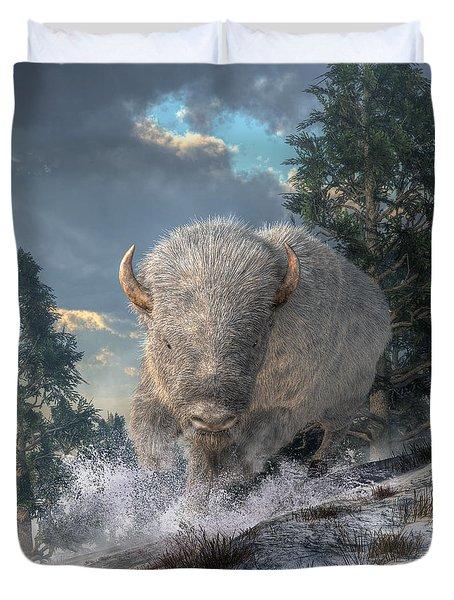 White Bison Duvet Cover