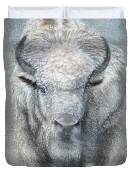 White Buffalo Duvet Cover