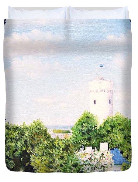 White Castle In Tallinn Estonia Duvet Cover