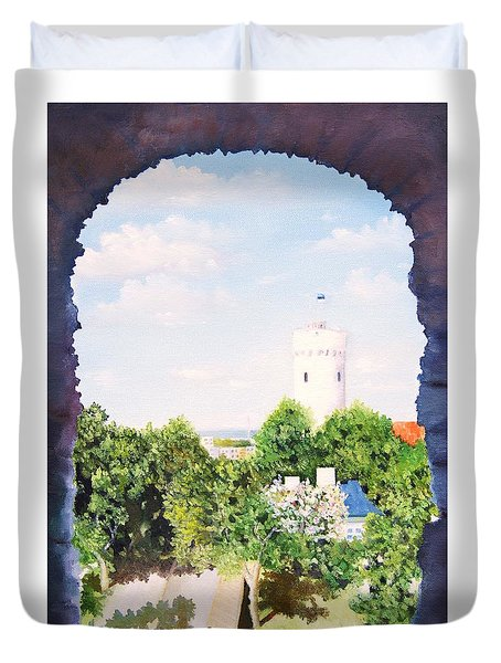 White Castle In Tallinn Estonia Duvet Cover