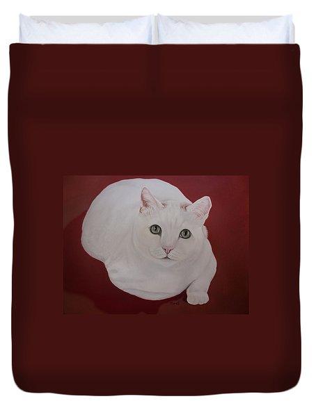 White Cat Duvet Cover