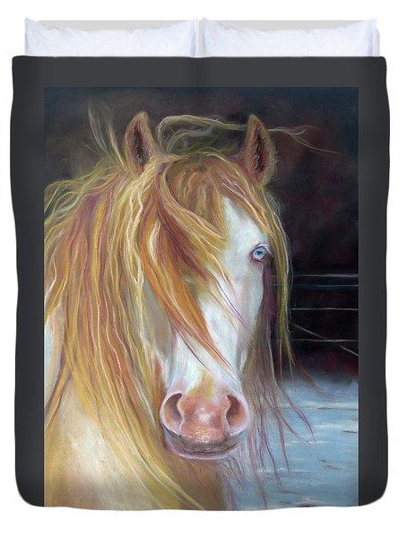 White Chocolate Stallion Duvet Cover