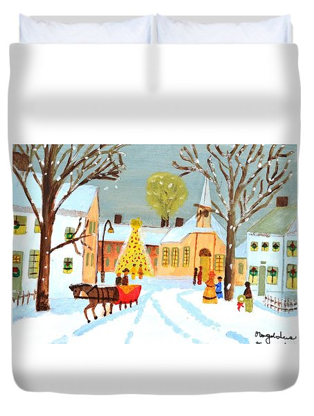 White Christmas Duvet Cover
