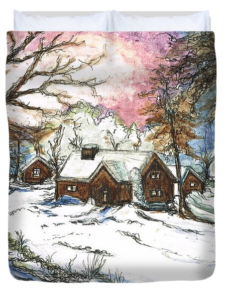 White Christmas Duvet Cover by Teresa White