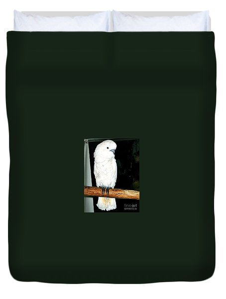 White Cockatiel-loreto Mx. Duvet Cover