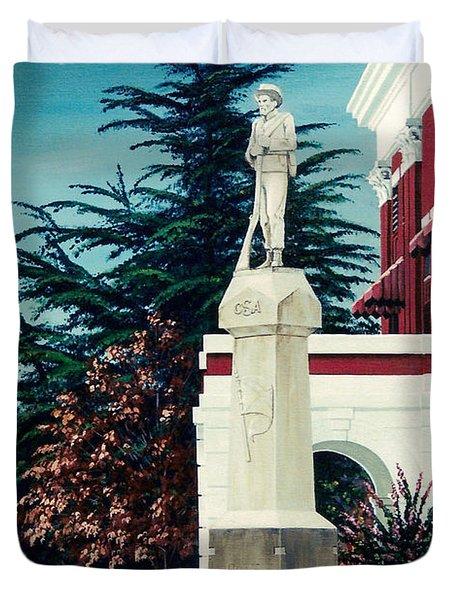 White County Courthouse - Civil War Memorial Duvet Cover