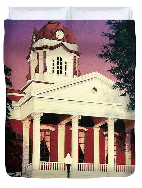 White County Courthouse Duvet Cover