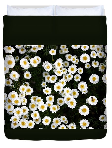 Duvet Cover featuring the photograph White Daisys by Jean Walker