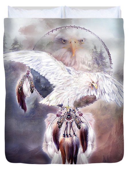 White Eagle Dreams 2 Duvet Cover by Carol Cavalaris