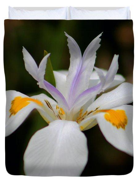 White Flower Duvet Cover by Pamela Walton