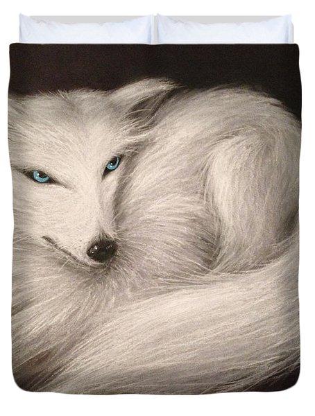 White Fox Duvet Cover
