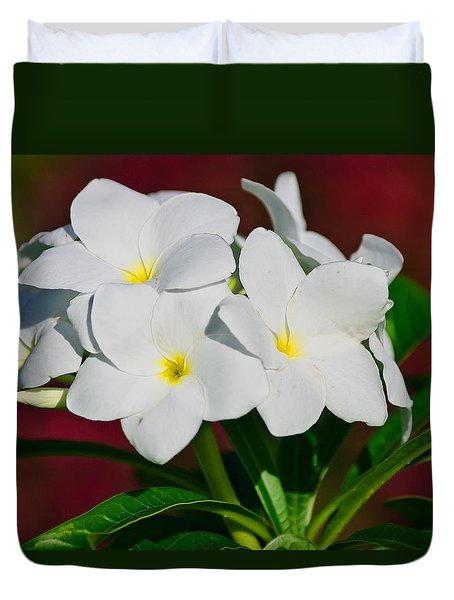 White Frangipani Duvet Cover