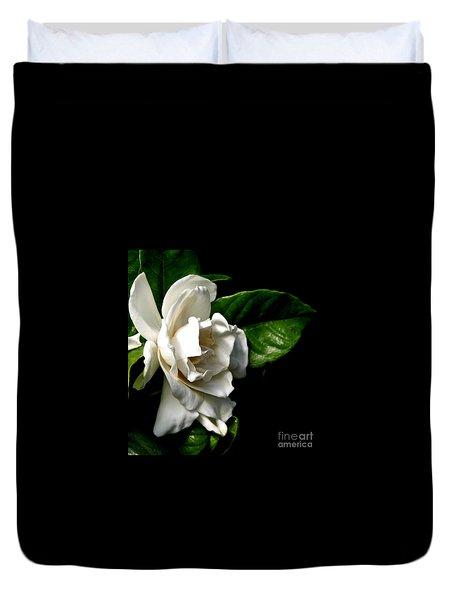 White Gardenia Duvet Cover by Rose Santuci-Sofranko