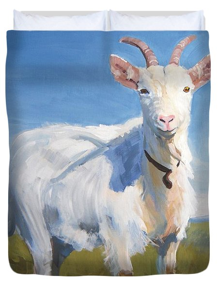 White Goat Duvet Cover