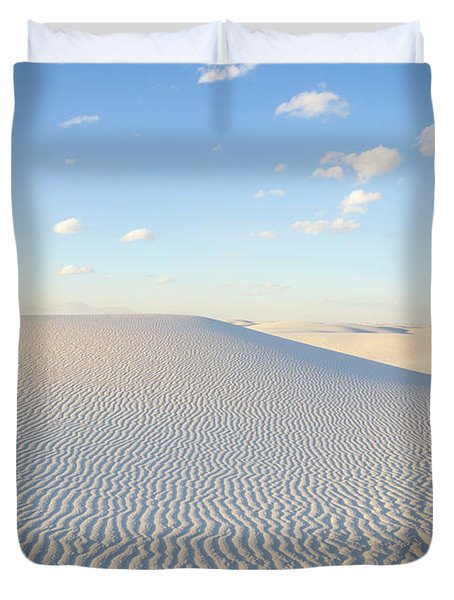 White Gypsum Dune  Duvet Cover