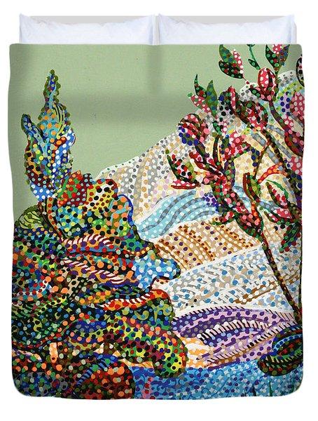White Hills Duvet Cover by Erika Pochybova