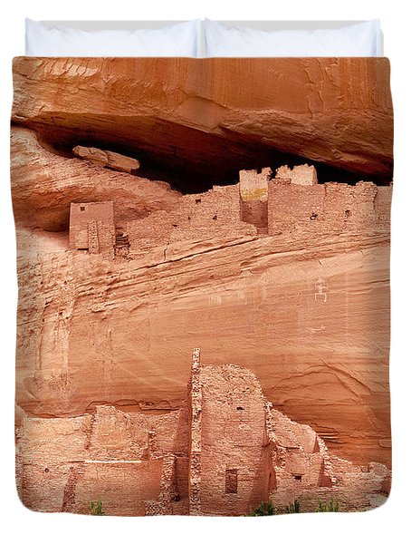 White House Ruins Canyon De Chelly Duvet Cover
