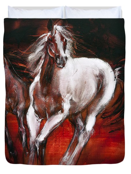 White Knight Duvet Cover
