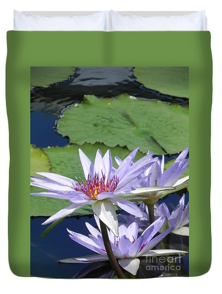 Duvet Cover featuring the photograph White Lilies by Chrisann Ellis