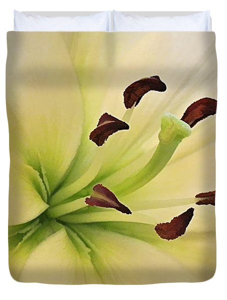 White Lily Pp-6 Duvet Cover