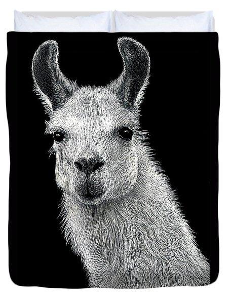 White Llama Duvet Cover