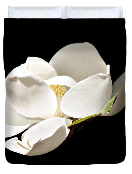 White Magnolia  Duvet Cover by Debra Forand